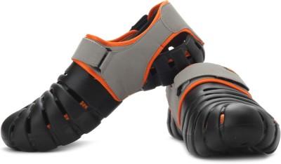 Globalite Parko IV Men Black, Grey, Orange Sandals
