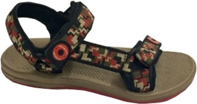 TerraVulc Men Brown, Red Sports Sandals