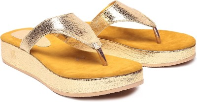 Laila Collection Women Yellow Flats