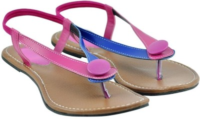 Diovanni Women Pink, Blue Flats