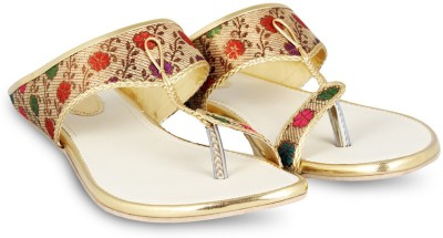 Anand Archies Girls Gold Flats