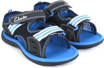 Clarks Piranha Boy Blue Textile Boys, Girls Blue Flats