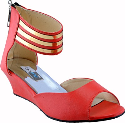 Fabme Women Red Wedges