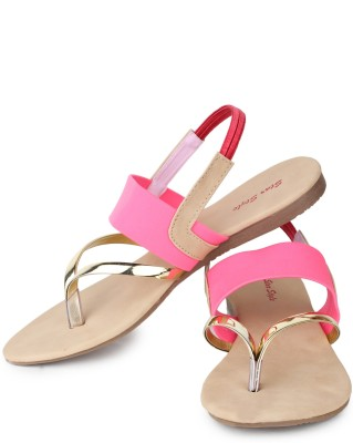 Star Style Women Pink Flats