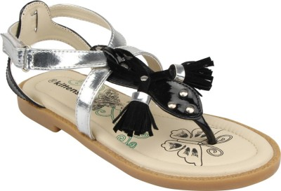 Kittens Girls Black Sports Sandals