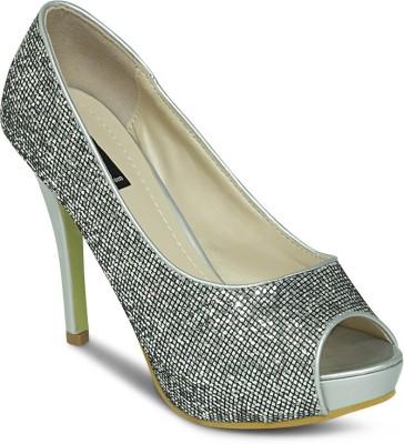 Get Glamr Women Grey Heels