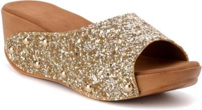 Bruno Manetti Women Gold Wedges