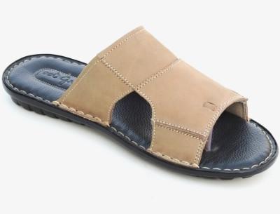 Footgraphy Men Black, Beige Sandals