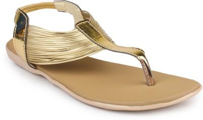 Bonzer Women Gold Flats