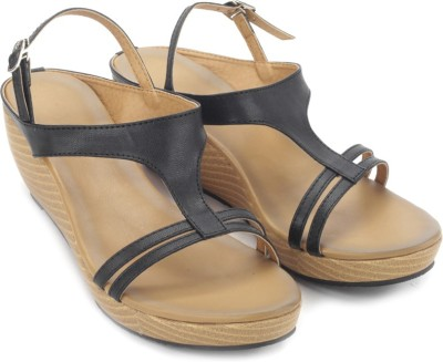 Sole Struck Women Black Wedges