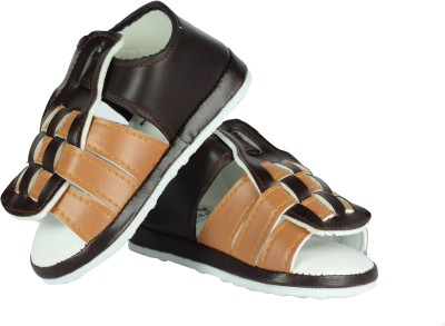 FabSeasons Boys, Girls Brown Sandals