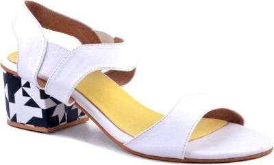 Zaera Women White, Yellow Heels