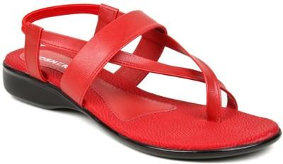 Kosher KLSS029-RED Women Red Flats