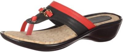 WeDeshi Women Black, Red Heels
