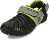 Globalite Men Black Lime Sandals