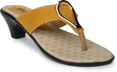 11e Women Yellow Heels