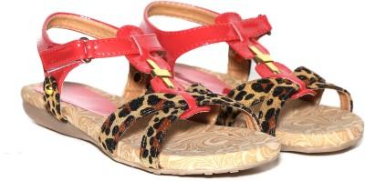 Craze Shop Girls Red Sandals