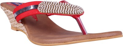 Angel Women Red Wedges