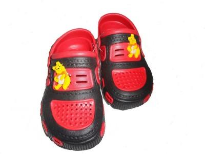 Pu-asmaa Boys, Girls Red, Black Sandals