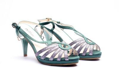Bello Pede Glitter Women Green Heels