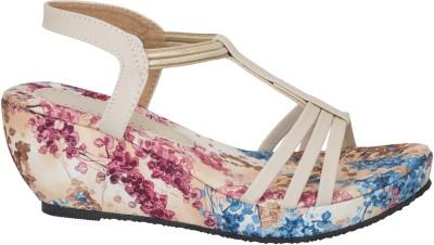 Fashion Feet Women Beige Wedges