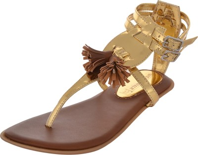 Wear N Walk Women Gold Flats