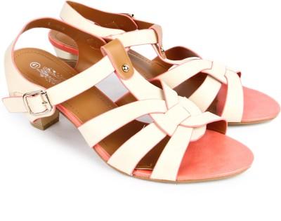 Starchi Women White, Pink Heels