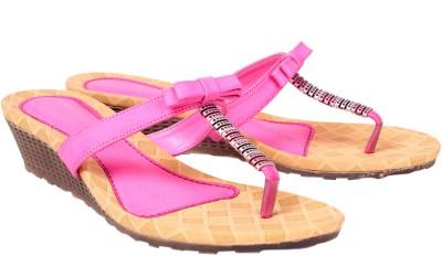 Engross Women Pink Wedges