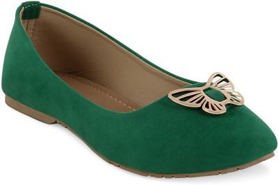 Get Glamr Elizabeth Women Green Flats