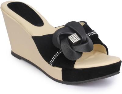 Funku Fashion Women Black, Black Wedges