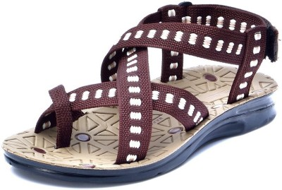 Pu-Rocks Men Black, Brown Sandals