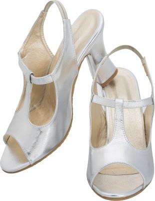 NE Shoes Women Silver Heels