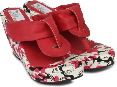 2B Collection Snowy Women Red Wedges