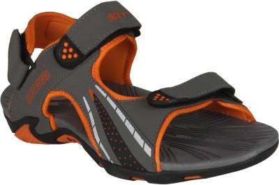 Spinn Men Grey, Orange Sandals