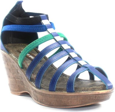 PAWAR Girls Blue Heels