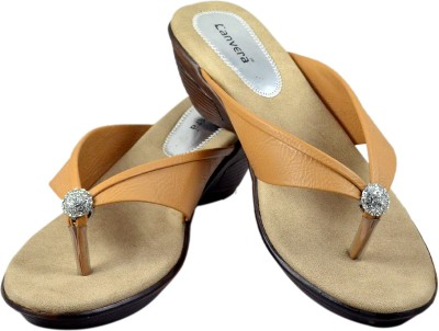 Canvera Women Beige Heels