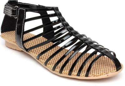 A La Mode Girls Black Sports Sandals
