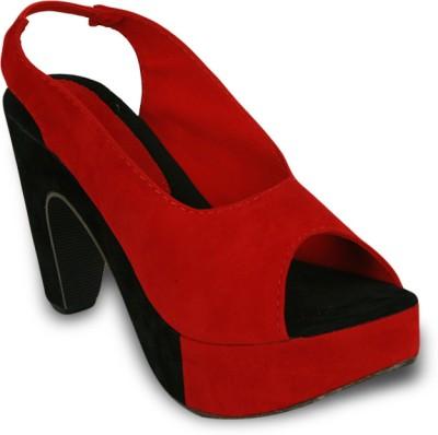 Studio 9 Classy Platform Women Red Heels