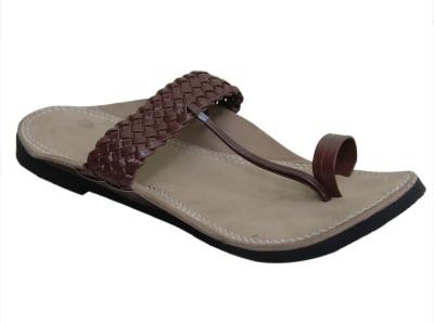 JS Men Maroon Sandals