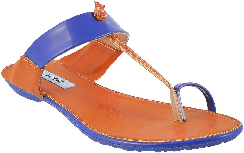 Mochi Women Blue Flats