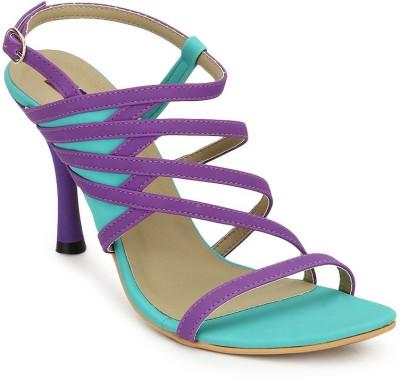American Swan Women Green, Purple Heels