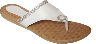 Step Zone Women White Flats