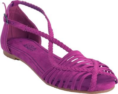 Urban Monkey Women Purple Flats