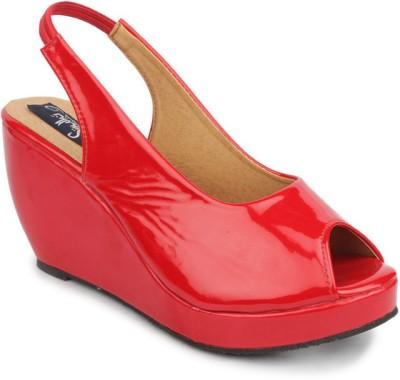 Sindhi Footwear Women Red Wedges