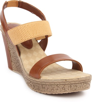 Arcade Women Tan Wedges