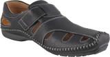 Kivanahs Men Black Sandals