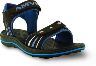 Amvi Men Blue, Black Sandals