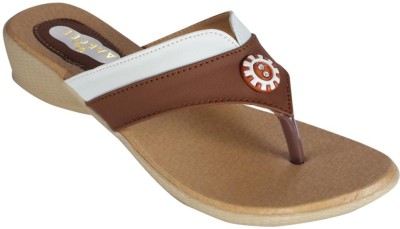 Recent Collection Women Brown, White Wedges