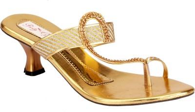 Party Girl Women Gold Heels