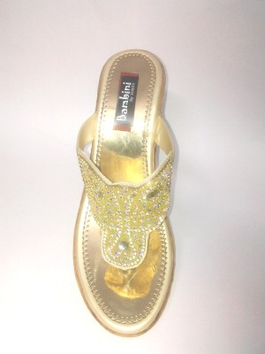 Bambini Girls Gold Sandals